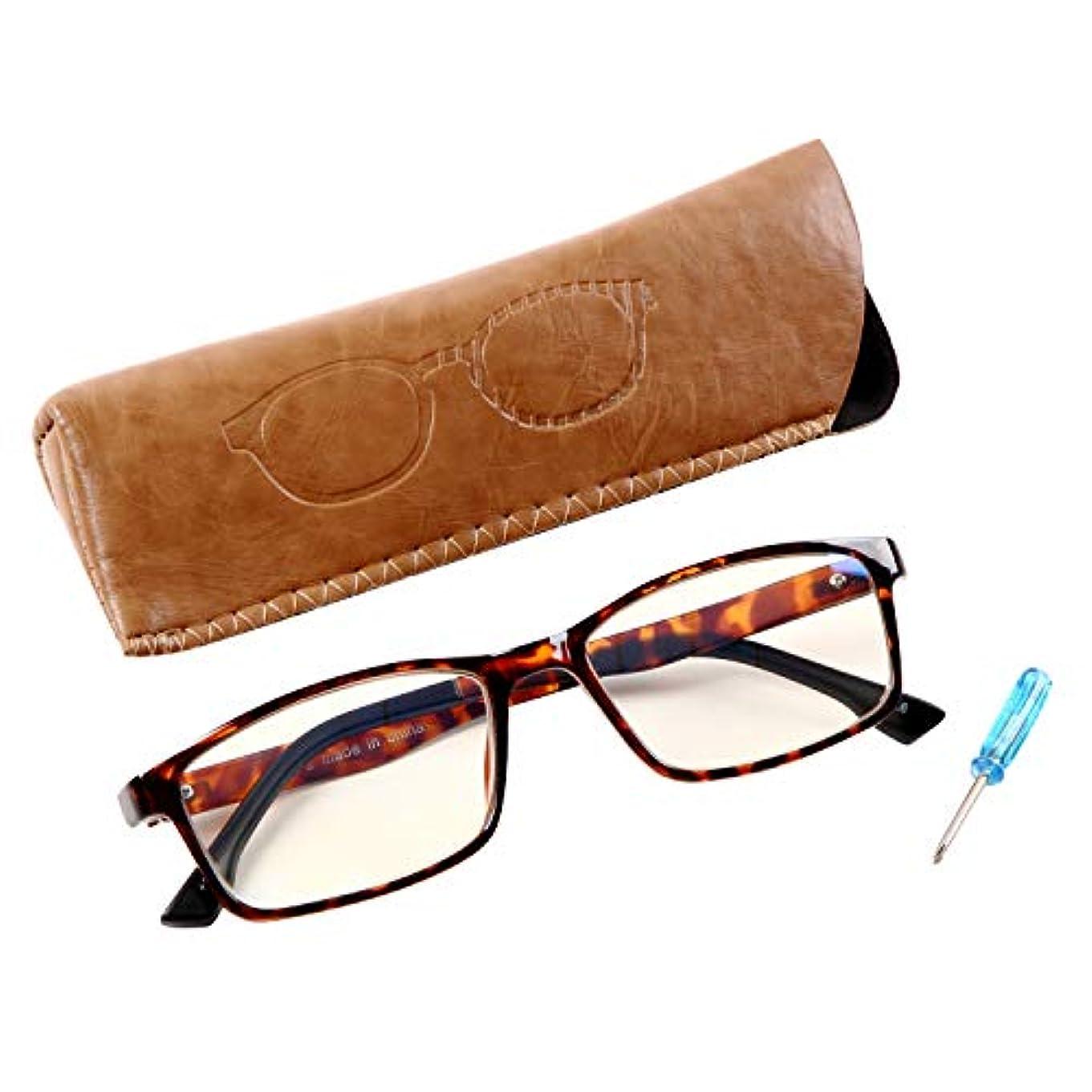 Best Fit Light 115 人気のスクエアタイプ ブルーライトカット約35% ユニセックス 老眼鏡ケース付[PrePiar](ブラウンデミ?+1.0)