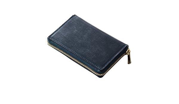 158de6032466 Amazon | DanZy(ダンズィ) ブリティッシュブライドルレザー 小銭入れ メンズ 財布 ネイビー 紺色 | DanZy | 財布
