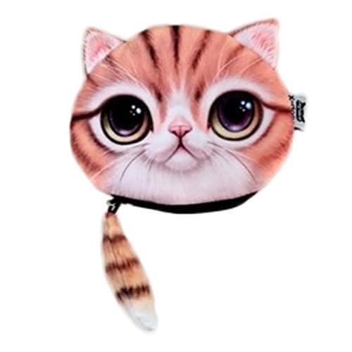 (ビグッド)Bigood 可愛い ネコ フェイス 小銭入れ レディース 小物入れ メンズ コインケース ポーチ 子供 男の子 雑貨 財布 女の子 プレゼント 猫顔バッグ A