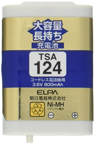 ELPA  エルパ 子機用    大容量長持ち充電池   TSA-124