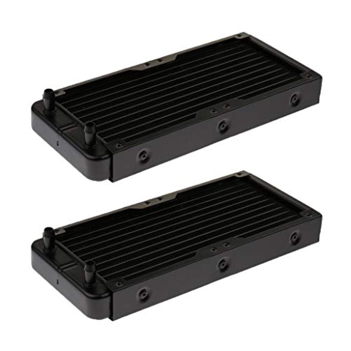 シュガーフィッティング摩擦D DOLITY 放熱器 水熱交換器 10パイプ CPUパイプ240mmストレート口用 - 2個