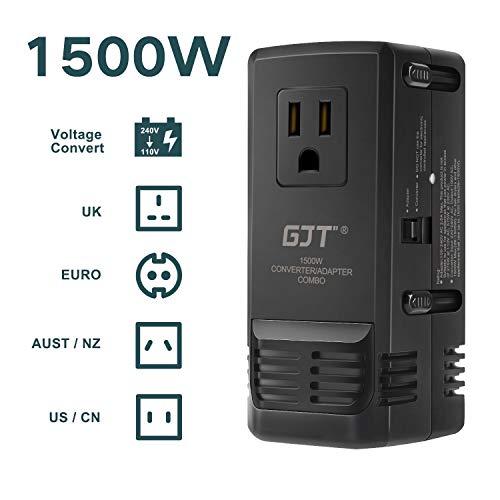 GJT 海外旅行用変圧器1500W ハイパワー220V to...