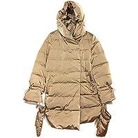Zara Women Down Puffer Coat with Wraparound Collar 8073/733 Brown