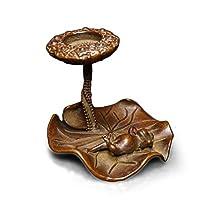 ラオジュン炉 銅香炉蓮の葉カエル形逆流香スティック小物銅茶ペット茶道銅彫刻銅メダル