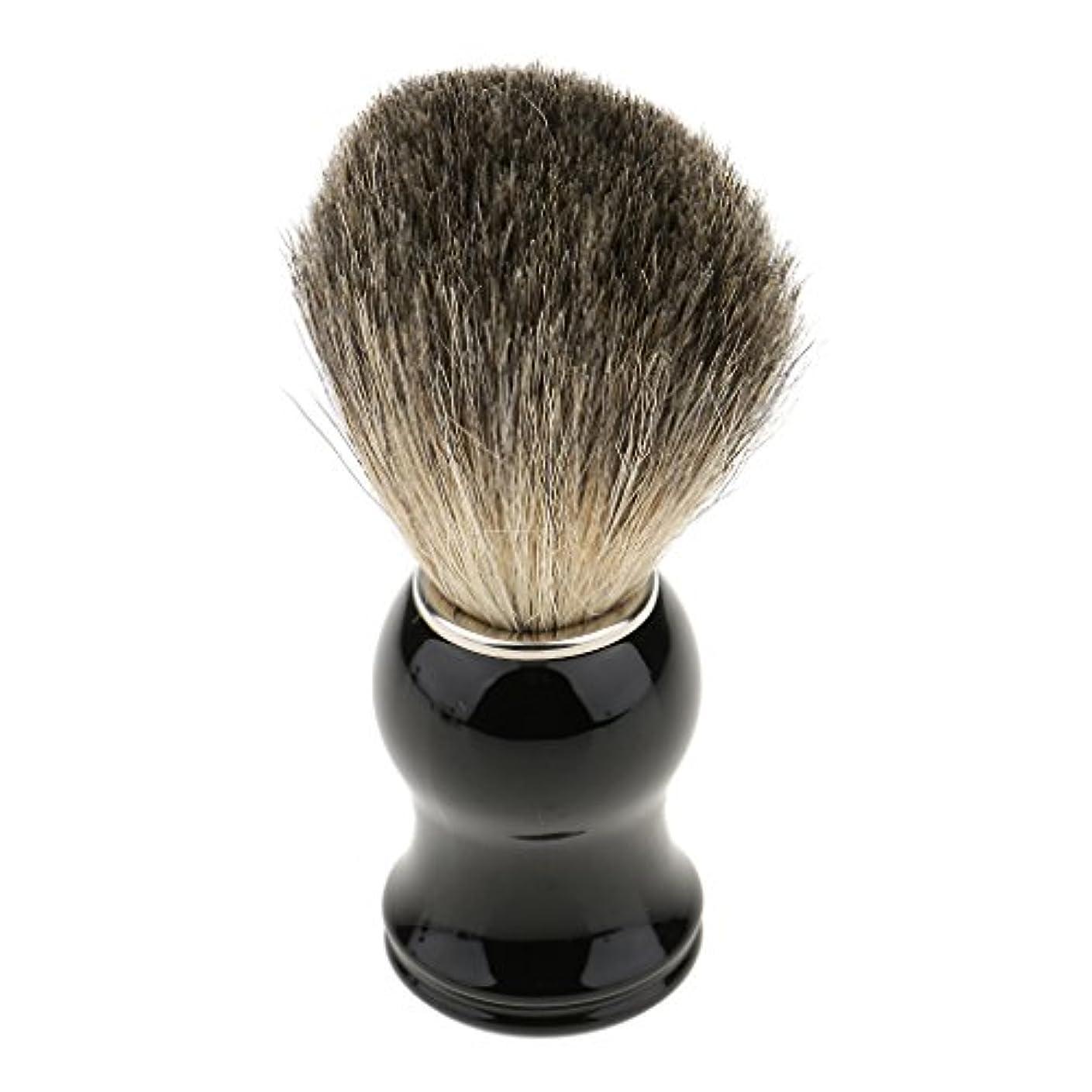 十代ソファー豊富にシェービング用ブラシ 人工毛 メンズ 理容 洗顔 髭剃り 泡立ち 11.2cm 全2色 - ブラックハンドル