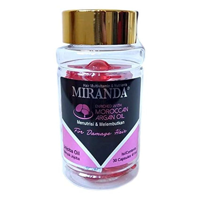 唇剥離ファウルMIRANDA ミランダ Hair Multivitamin&Nutrients ヘアマルチビタミン ニュートリエンツ 洗い流さないヘアトリートメント 30粒入ボトル Jojoba oil ホホバオイル [海外直送品]