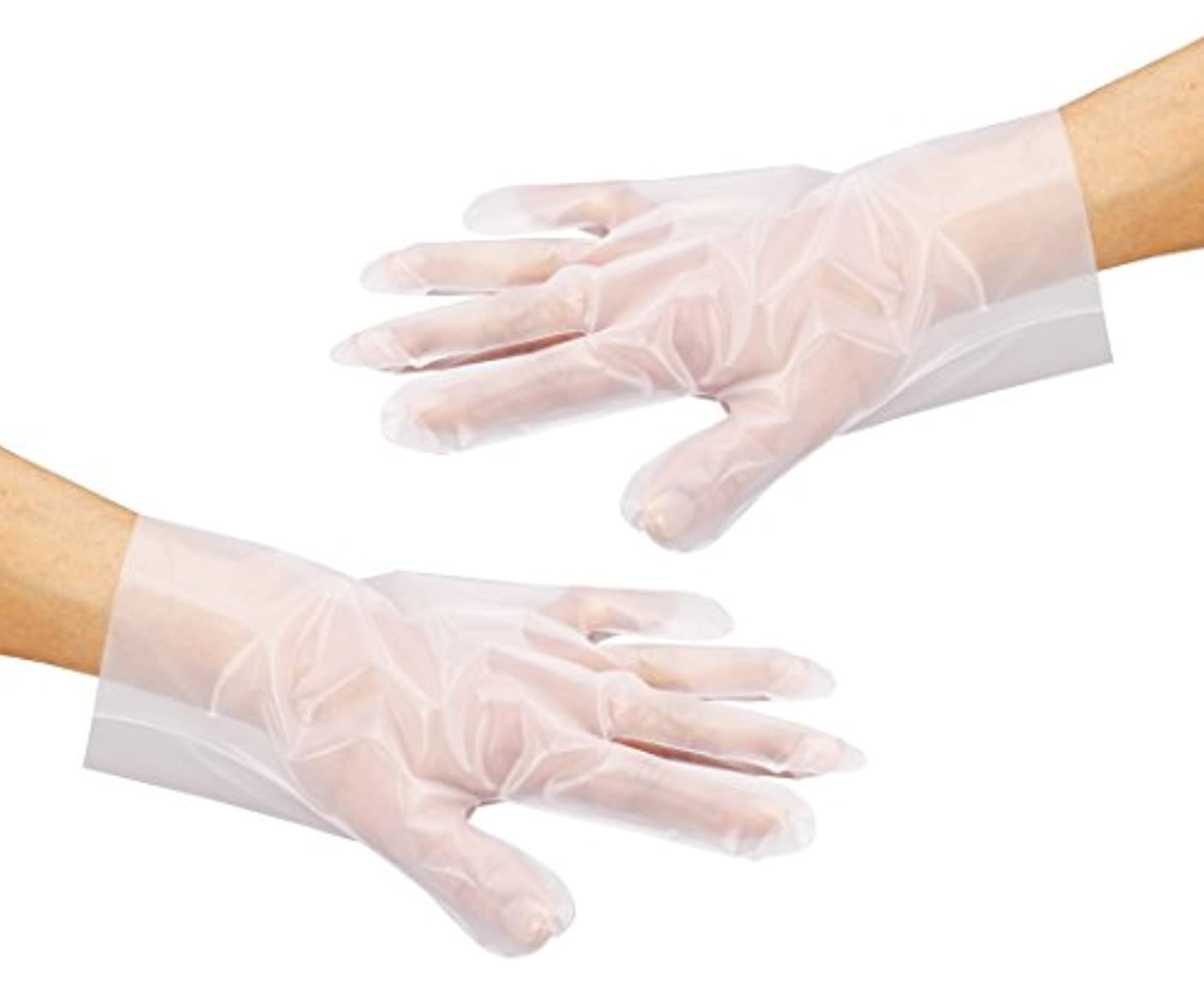 割合アリひまわりアズワン サニメント手袋 PE厚手 エンボス付 100入