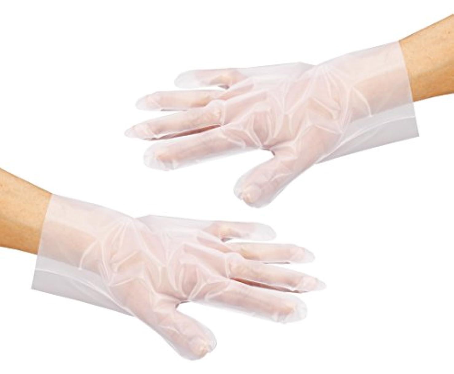 装置してはいけません異なるアズワン サニメント手袋 PE厚手 エンボス付 100入