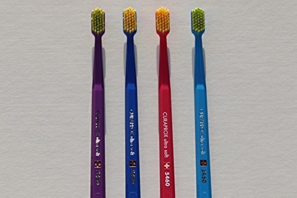 読み書きのできない運賃弱まるUltra soft toothbrush, 4 brushes, Curaprox 5460. Better cleaning, softer feeling in vibrant His & Hers colours...