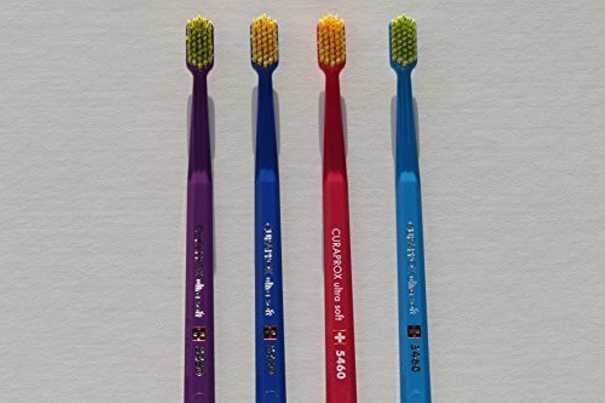 誇張する木曜日請求可能Ultra soft toothbrush, 4 brushes, Curaprox 5460. Better cleaning, softer feeling in vibrant His & Hers colours...