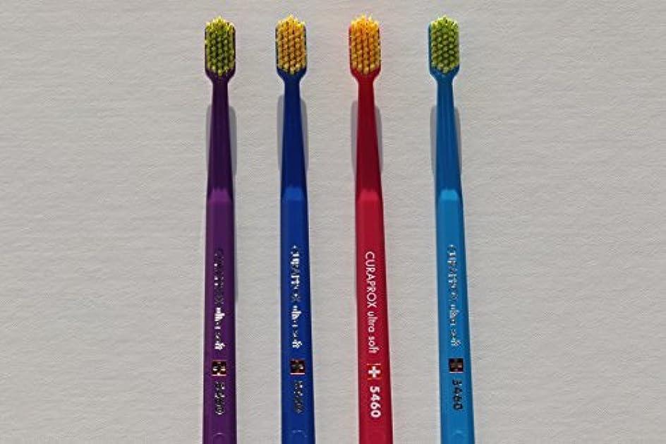 へこみ比類なきさせるUltra soft toothbrush, 4 brushes, Curaprox 5460. Better cleaning, softer feeling in vibrant His & Hers colours...