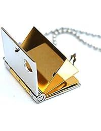 AMDXDジュエリーステンレス鋼メンズペンダントネックレスヴィンテージスタイルゴールドBookハート2.82.4 CM