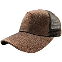 Women's High Bun Ponytail Baseball Cap Hat Adjustable Mesh Hat