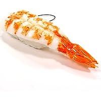 食品サンプルストラップ 食べちゃいそうなえびにぎり寿司 186OS