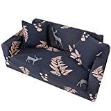 Nordmiex Printed Stretch Sofa Cover- 1 Piece Elastic Polyester Spandex Couch Covers- Universal Fitted Sofa Slipcover Furniture Protector (3-Seat Sofa, Pattern#YY)