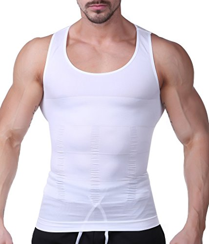 B-WINDY 加圧インナー 加圧シャツ コンプレッションウェア タンクトップ メンズ(ホワイト、M)