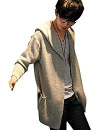 (アルファーフープ) α-HOOP メンズファッション 長袖 カーディガン パーカー ジャケット フード付き シンプル 柄 S ~ XXL 大きいサイズ も KDG1