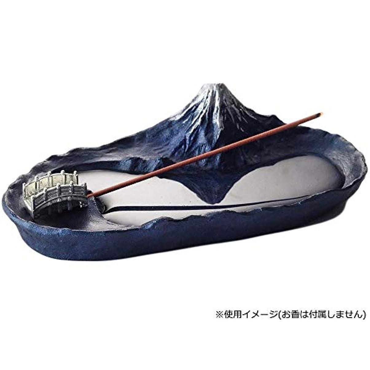 黒板プラカード効能あるインセンスホルダー 香立て さかさ富士 青富士