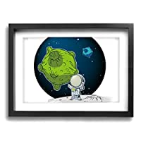 飛行士 地球30*40cm オシャレ綺麗壁掛けキャンバス絵画インテリア