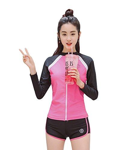 [해외](힐 탑 클라우드) HILLTOPTOCLOUD 수영복 여성 피트니스 용 수영복 러쉬 가드 UV 차단 흡한 속건 체형 커버 수륙 양용 3 종 세트/(Hill Top Cloud) HILLTOPTOCLOUD Swimsuit Women`s Fitness Swimwear Rash Guard UV Cut Sweat-absorbent Quick-Drye...