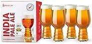 Spiegelau Craft Beer IPA Glass, Set of 4, European-Made Lead-Free Crystal, Modern Beer Glasses, Dishwasher Saf