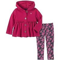 CALVIN KLEIN Baby-Girls 2 Pieces Jacket Pants Set Pants Set - Pink - 12M