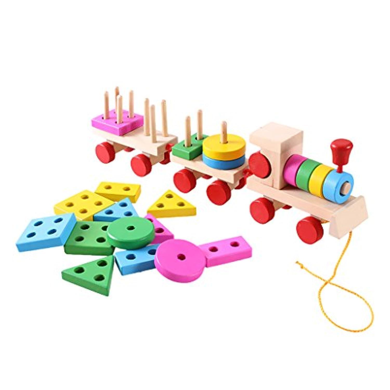 Perfk 子供 おもちゃ 積み木  木製 ソートパズル 木製パズル玩具 知育玩具 幼稚園 おもちゃ 木製の教育玩具