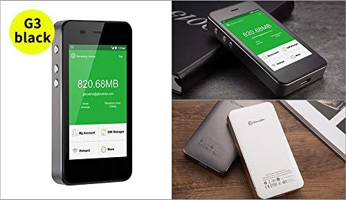 GlocalMeG3 SIMフリーモバイルWiFiルーター 4G高速通信 世界100ヵ国以上対応 iPhone・Xperia・Huawei・Galaxy・iPadなどに対応 5350mAh充電バッテリー搭載 (グレー)