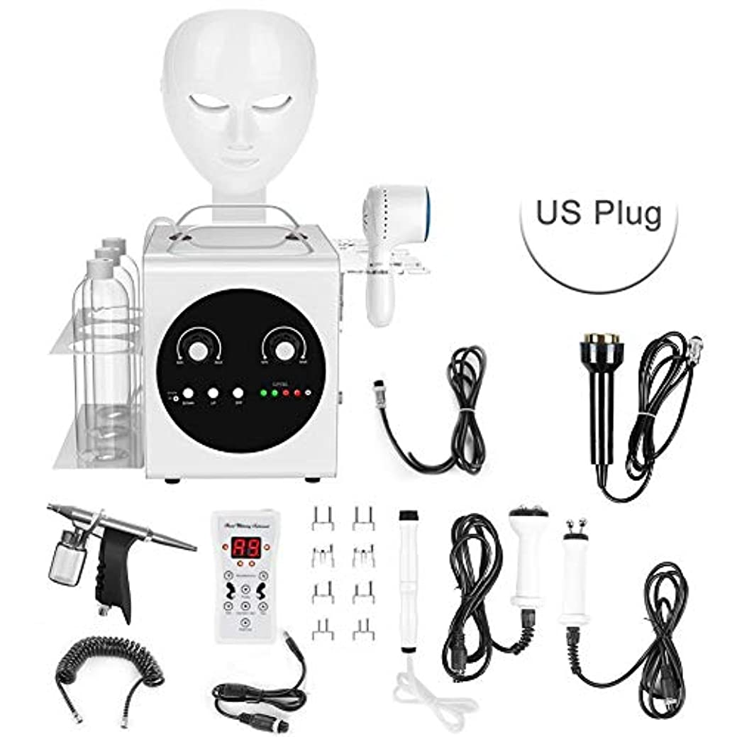 名前でスタンドチャンバー真空無線周波数電流皮膚剥離美容機、フェイシャルディープクレンジング保湿用7-IN-1小型バブルプローブ(US Plug)