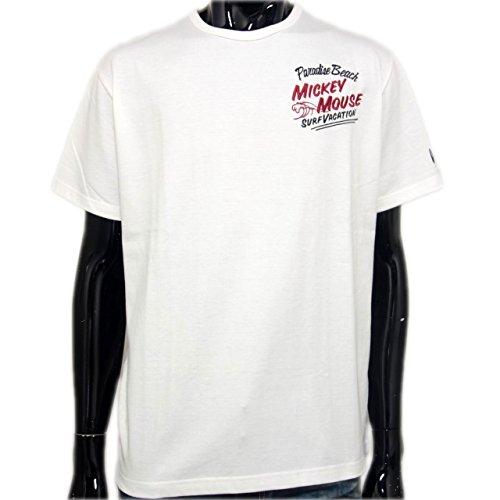 (ローブローナックル) LOWBLOWKNUCKLE×ミッキーマウス半袖Tシャツ (L) 白