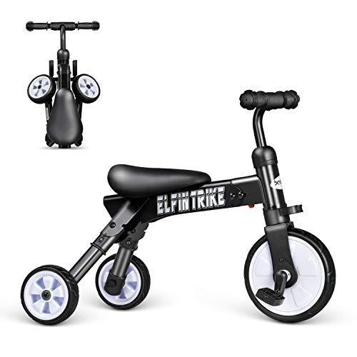 バランス三輪車子供用 軽量 発泡タイヤ おしゃれ シンプル ペダルなし自転車 誕生日プレゼントに最適 1-6歳幼児に向け (ブルー3輪) (黑色) Besrey