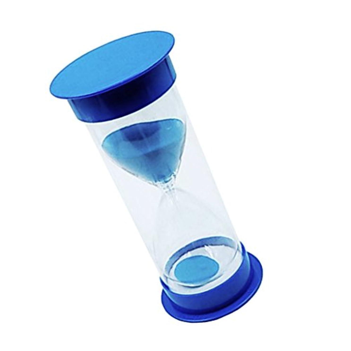 先入観インフレーションオピエート6カラー選択 タイマーサンドクロック 汎用 タイミングツール 砂時計 60分 - 青蓋+青砂