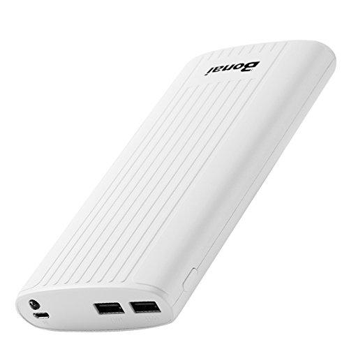 Bonai 超大容量 20000mAhモバイルバッテリー 急速充電 ポータブル充電器 2USBポート LEDライト付き iPad/iPhone/iPod/Nintendo Switch 2017/Galaxy s8/ Xperia/ Nexus/ PSvitaなど対応 ホワイト