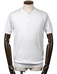 ジョンスメドレー JOHN SMEDLEY / 18SS!シーアイランドコットン30ゲージヘンリーネック半袖ニット『BENNETT』 (WHITE/ホワイト) メンズ