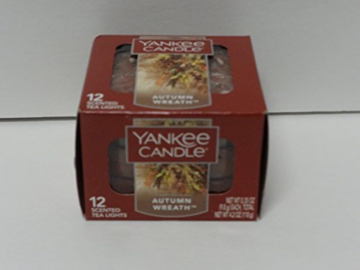 宣言慢性的建てるYankee Candle 秋 リース ティーライトキャンドル フード & スパイスの香り