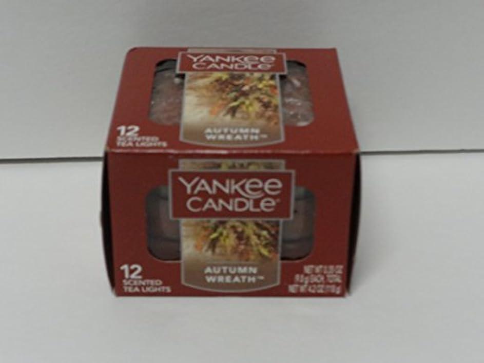 不良体系的にマニフェストYankee Candle 秋 リース ティーライトキャンドル フード & スパイスの香り