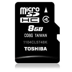 東芝 TOSHIBA microSDHC 8GB 高速 Class4 バルク品