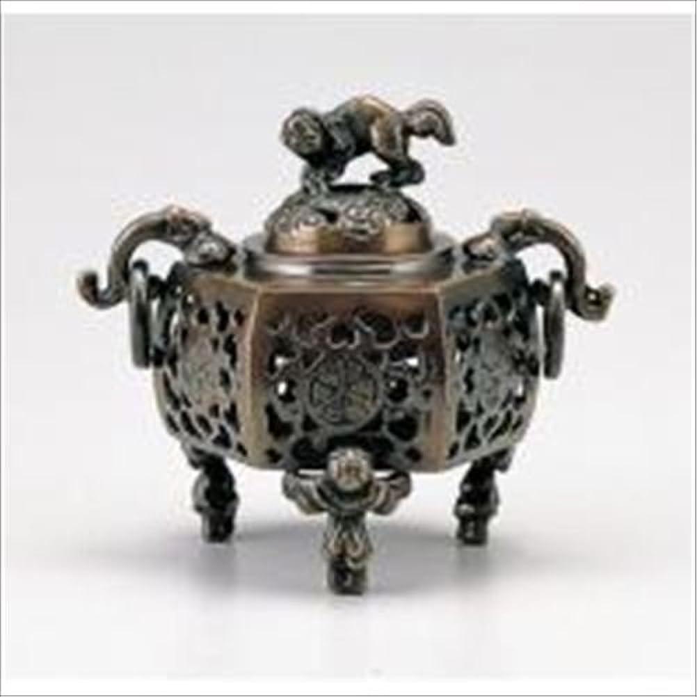 ボス説教するサイクロプス竹中銅器 122-05 香炉 葵 かん付香炉 山吹色