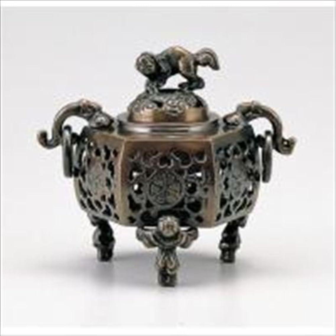 プレミアムラダ規定竹中銅器 122-05 香炉 葵 かん付香炉 山吹色