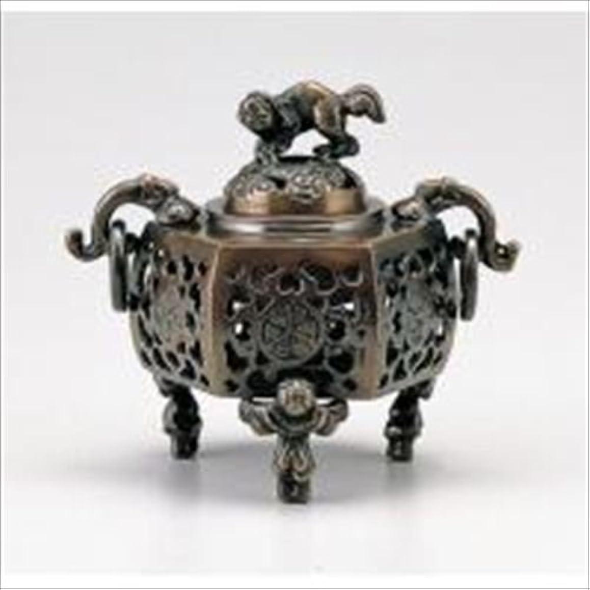 腐敗した差別する伝える竹中銅器 122-05 香炉 葵 かん付香炉 山吹色