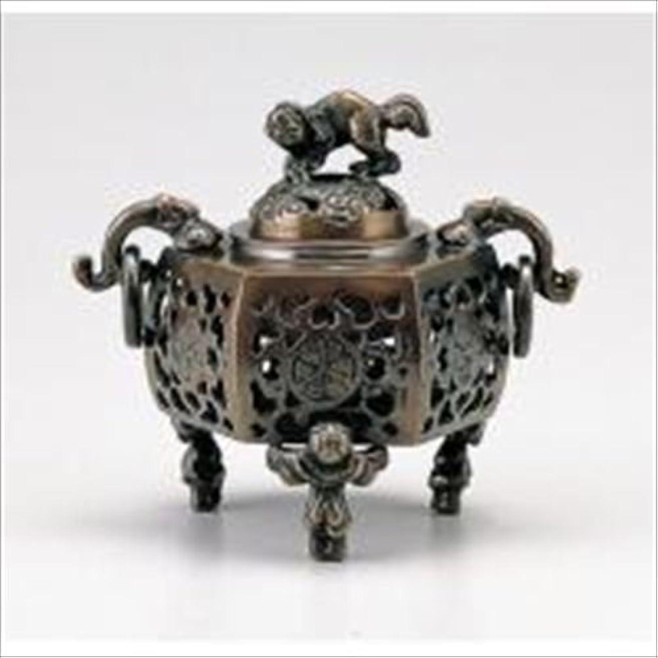 着実に意志に反する祖先竹中銅器 122-05 香炉 葵 かん付香炉 山吹色