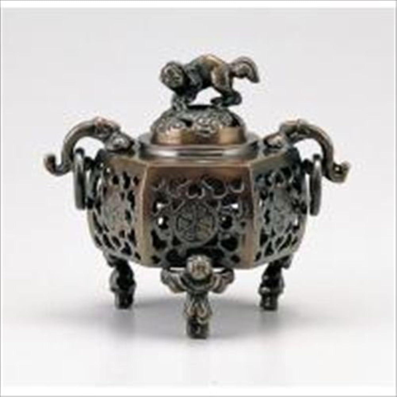 神秘インク弱まる竹中銅器 122-05 香炉 葵 かん付香炉 山吹色