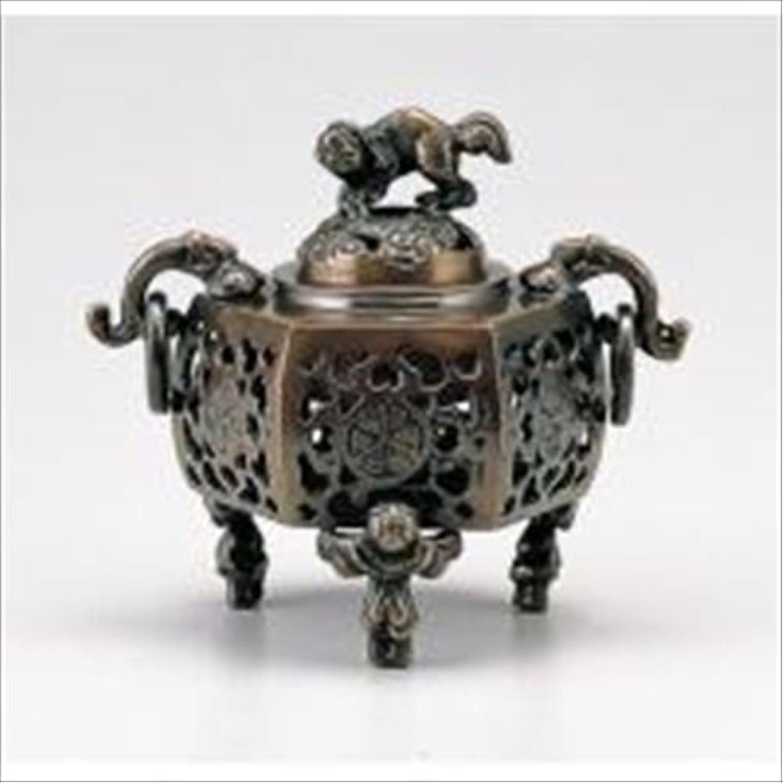 容量ディスパッチ理容師竹中銅器 122-05 香炉 葵 かん付香炉 山吹色