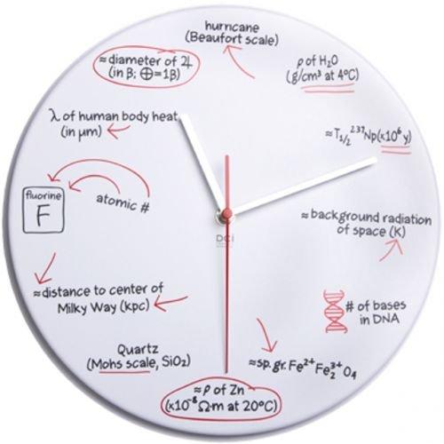 Science Quiz  サイエンスクロック 科学 時計 壁掛け時計 ウォールクロック