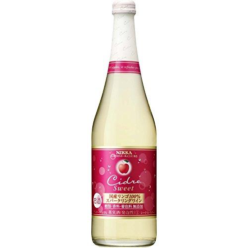 アサヒ ニッカ シードル・スイート リンゴ100%スパークリングワイン 瓶720ml