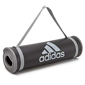 adidas(アディダス) ヨガ&ストレッチ トレーニングマット ADMT-12235 10mm グレーロゴ ADMT-12235GR