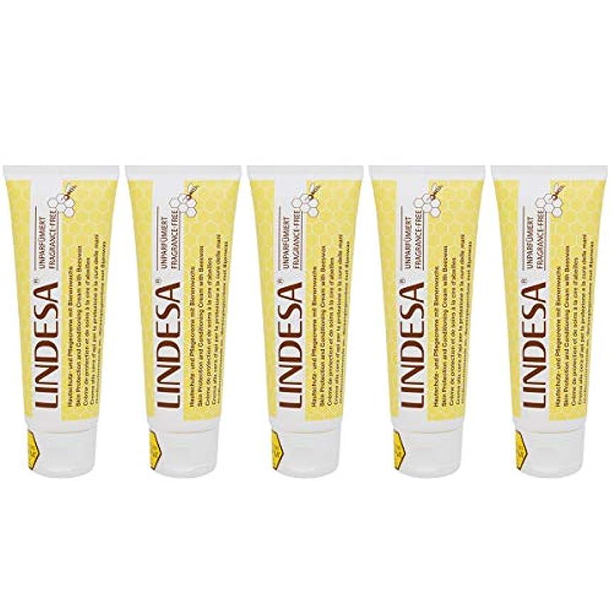 問題毎年生息地LINDESA リンデザ ハンド&スキンケアクリーム 無香料タイプ 75ml 日本国内正規品 5本セット