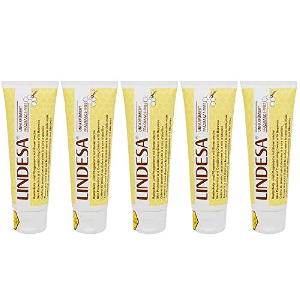 LINDESA リンデザ ハンド&スキンケアクリーム 無香料タイプ 75ml 日本国内正規品 5本セット