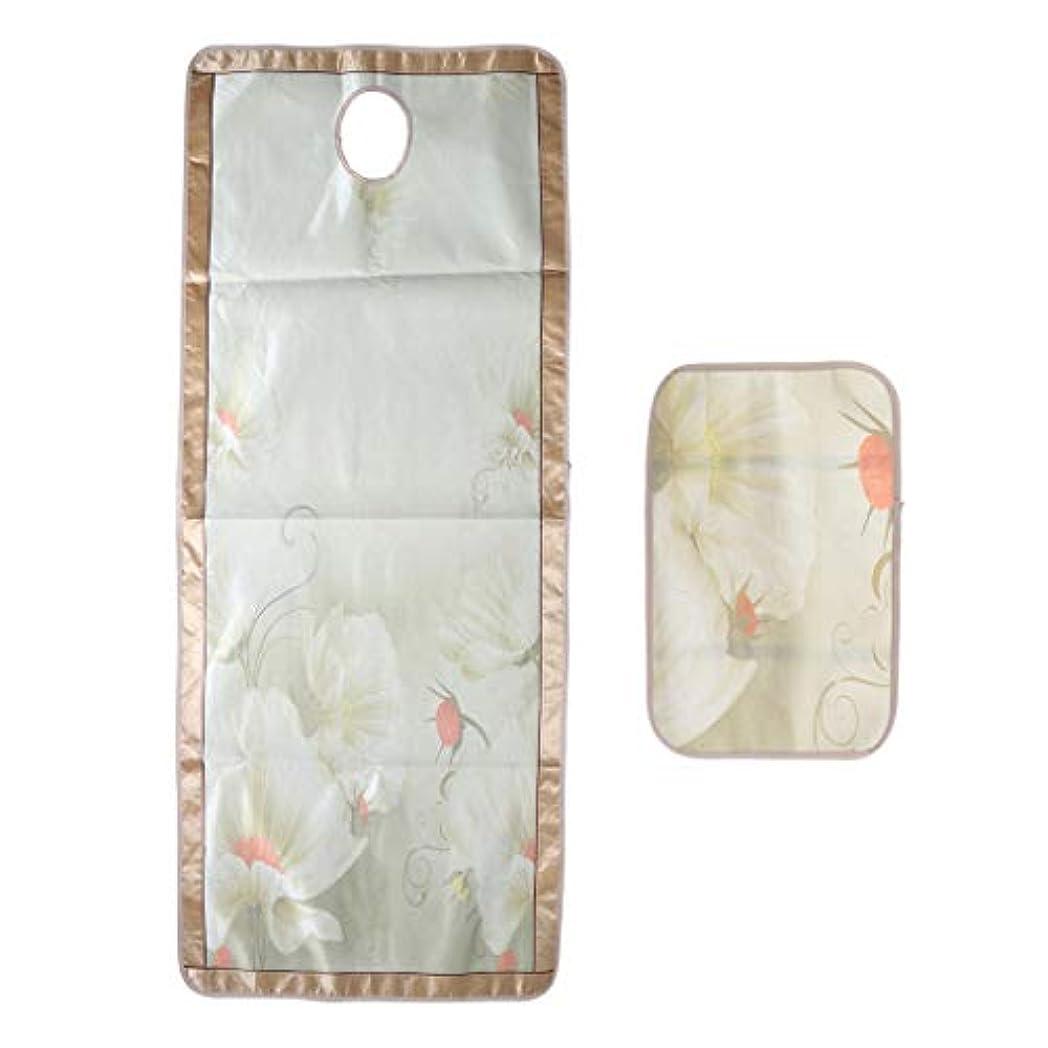 毎日小包認めるマッサージベッド エステベッドカバー 枕カバー付き ひんやり 敷きパッド 70×190センチ - フローラル6