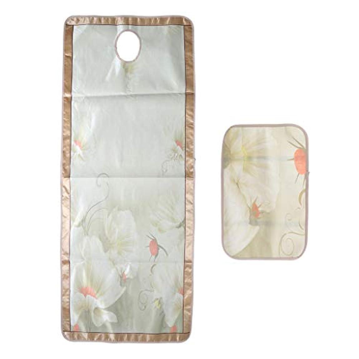 病弱保証金安価なマッサージベッド エステベッドカバー 枕カバー付き ひんやり 敷きパッド 70×190センチ - フローラル6